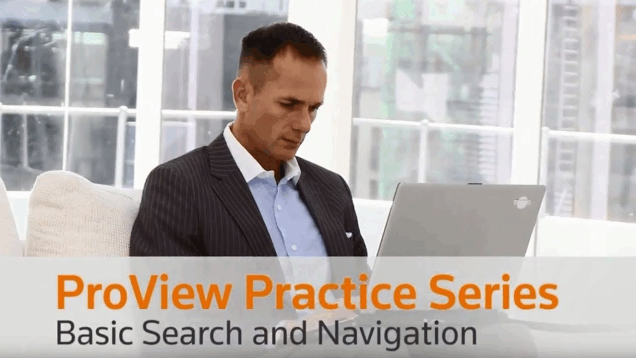 ProView Practice Series - Search & Navigation